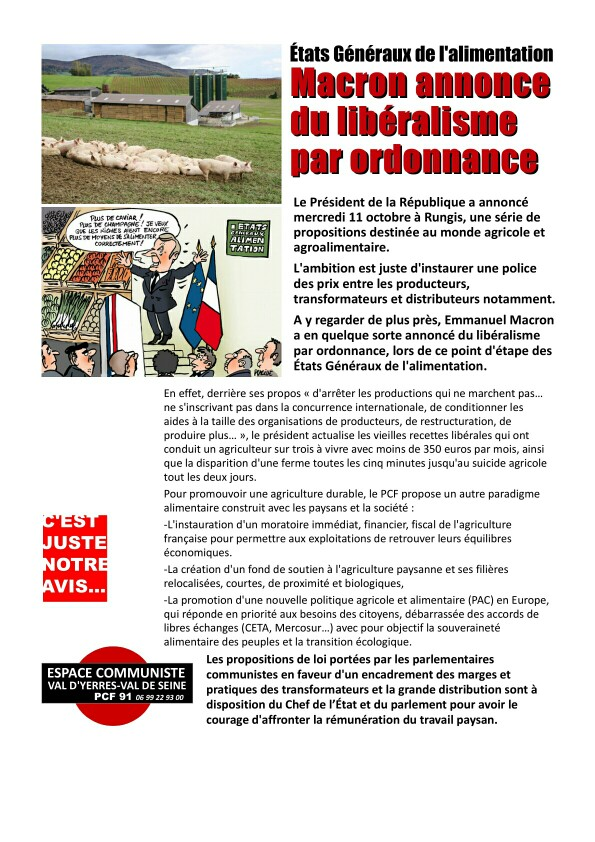 Alimentation - [PCF - VAL D'YERRES]